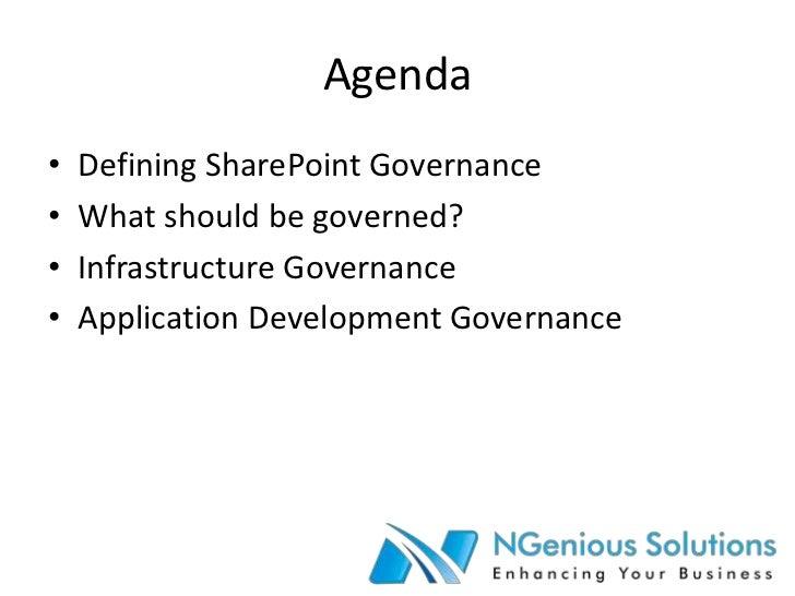 Microsoft SharePoint Server 2010 governance v1 Slide 2