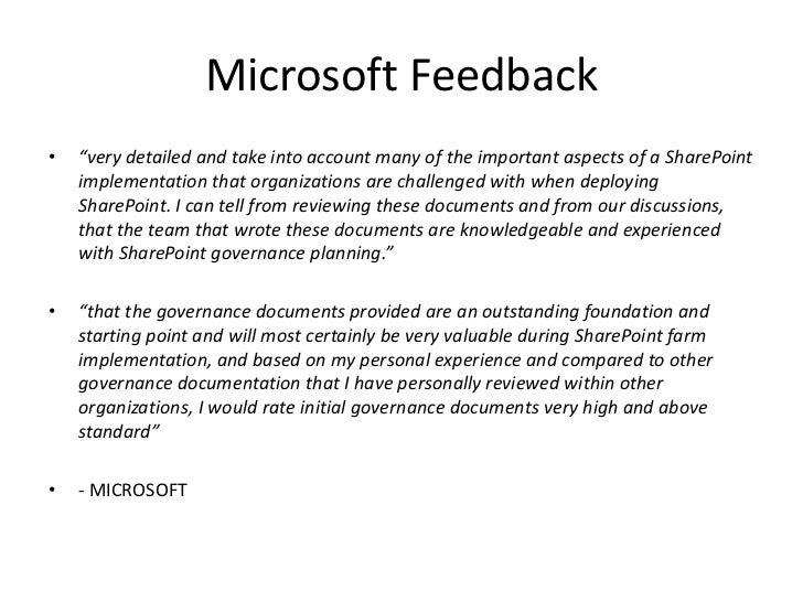 Microsoft SharePoint Server 2010 governance v1 Slide 3