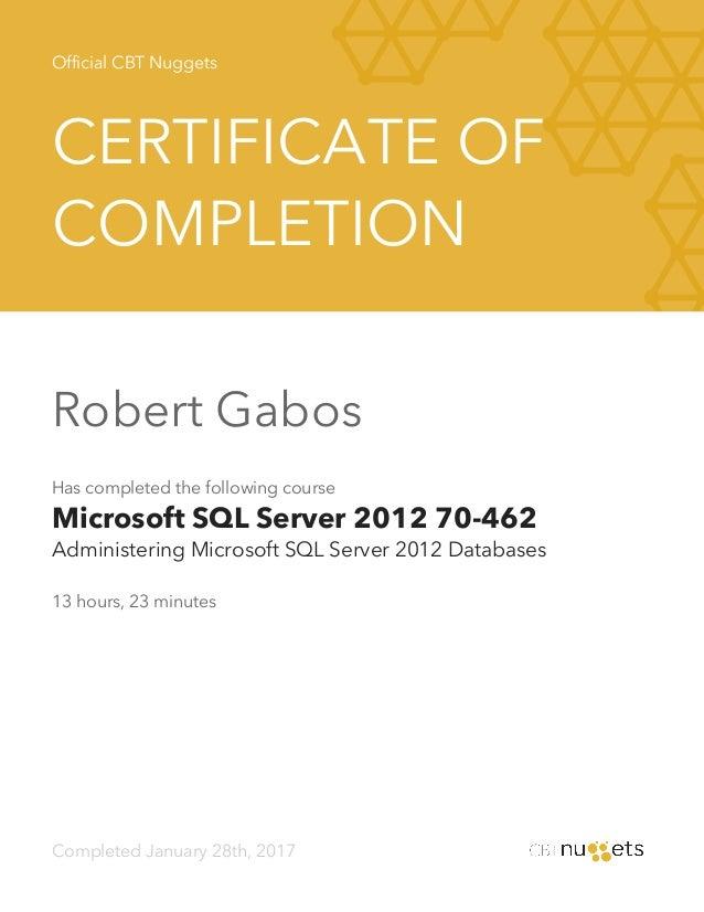 Cbt Nuggets Microsoft Sql Server 2012 70 462 Administering Microsof