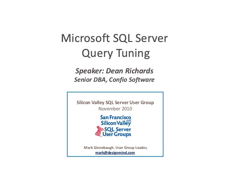 Microsoft SQL Server Query Tuning