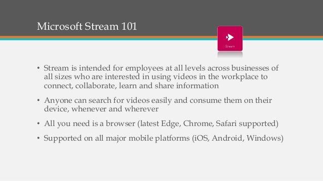 Microsoft Stream - The Video Evolution Slide 3