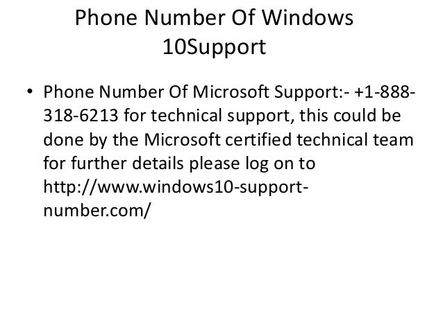 Windows 10 Support Number
