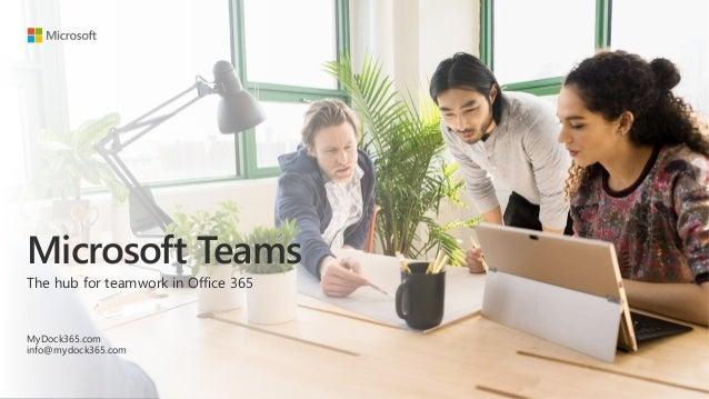 Microsoft Teams The hub for teamwork in Office 365 MyDock365.com info@mydock365.com