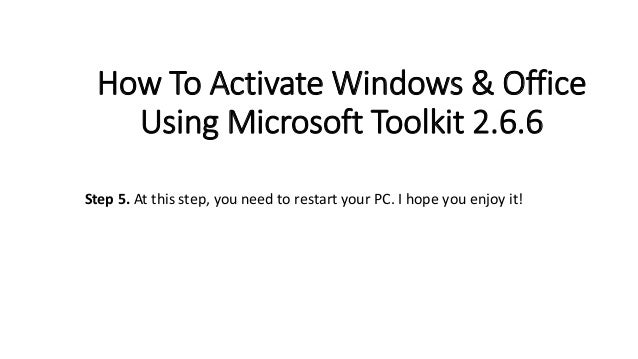 how to activate windows 8.1 using microsoft toolkit 2.6.5