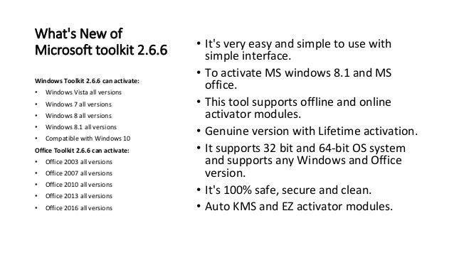 Microsoft Toolkit 2 6 6 Activator Windows and Office