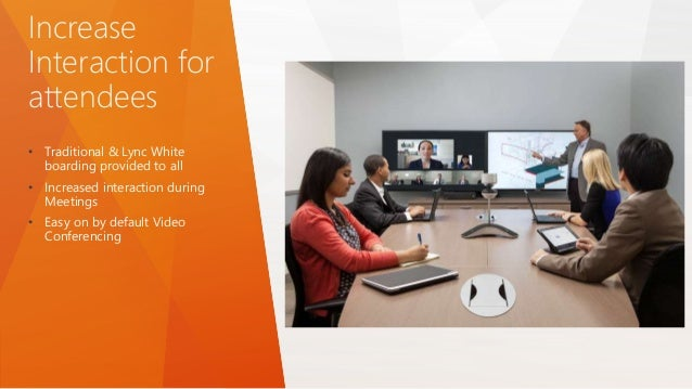 Increase Interaction for attendees • Traditional & Lync White boarding provided to all • Increased interaction during Meet...