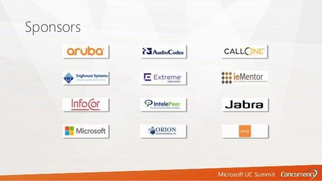 Microsoft UC Summit Sponsors