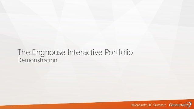 Microsoft UC Summit The Enghouse Interactive Portfolio Demonstration