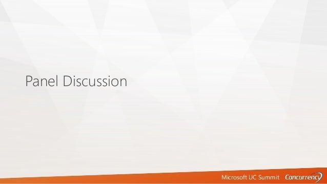 Microsoft UC Summit Panel Discussion