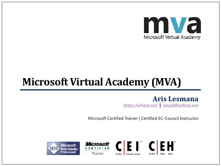 Microsoft Virtual Academy (MVA)                                               Aris Lesmana                               h...
