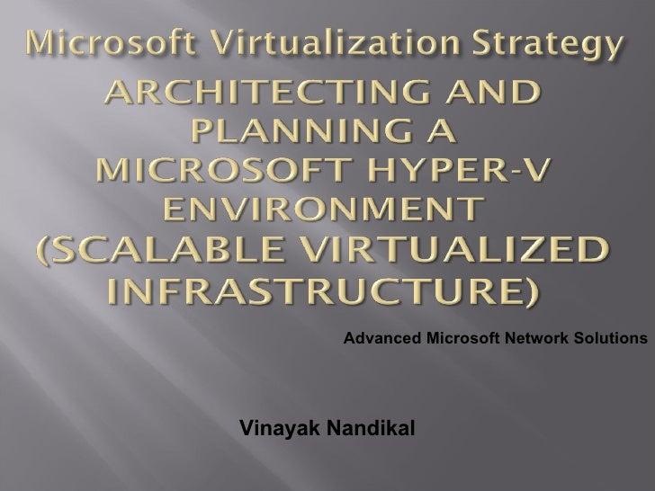 Vinayak Nandikal Advanced Microsoft Network Solutions