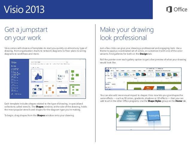 Microsoft Visio 2013 Quickstart Slide 2
