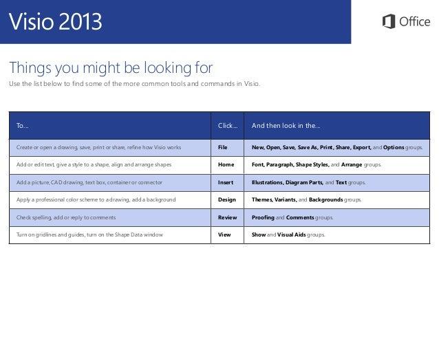 Microsoft Visio 2013 Quickstart Slide 3