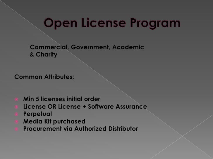 microsoft commercial licensing programs