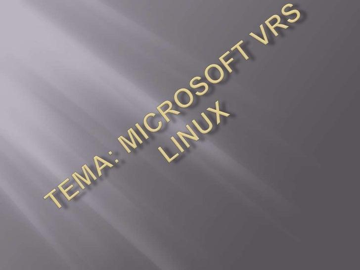 Tema: microsoftvrslinux<br />