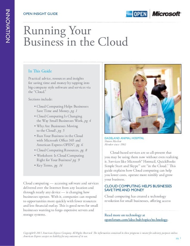 Microsoft Whitepaper Running Your Business In The Cloud