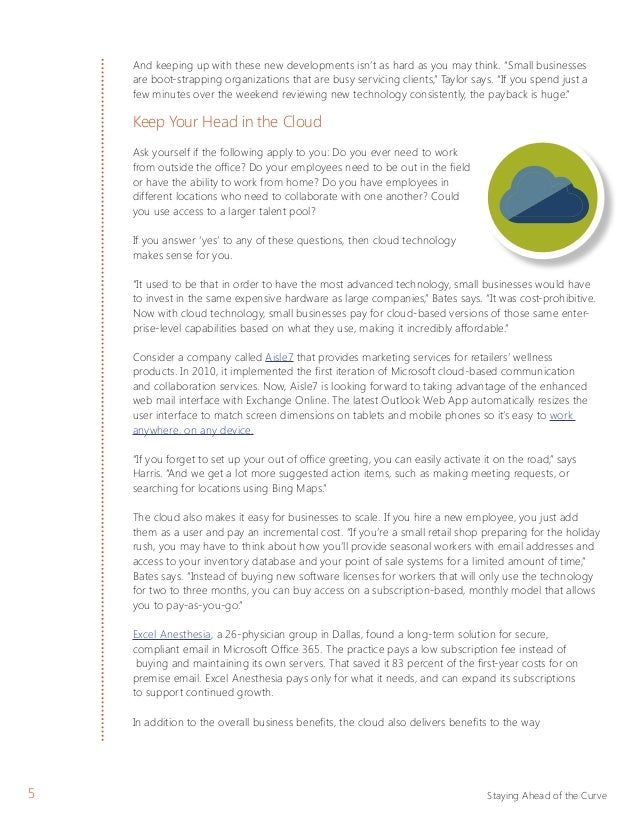 Microsoft whitepaper modern technology for small business growth 4 staying ahead of the curve 6 m4hsunfo