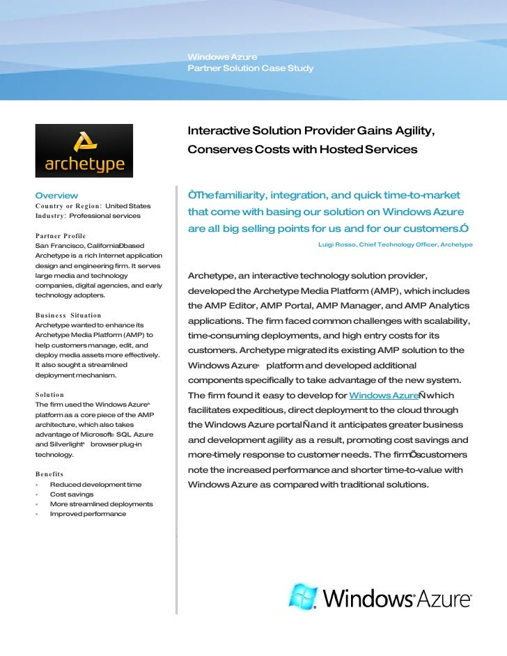 microsoft azure case study pdf