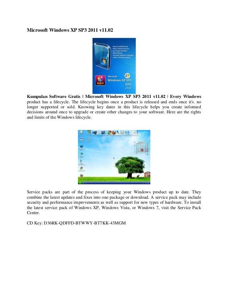 windows xp sp3 download gratis