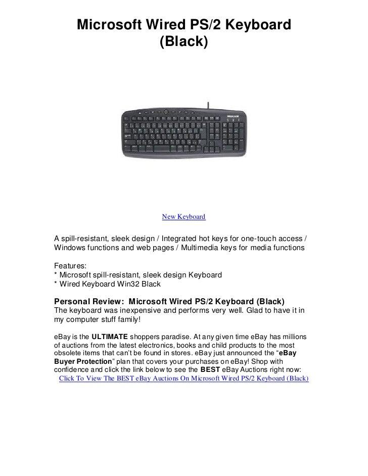 Microsoft wired ps2 keyboard black find e bays best deals!