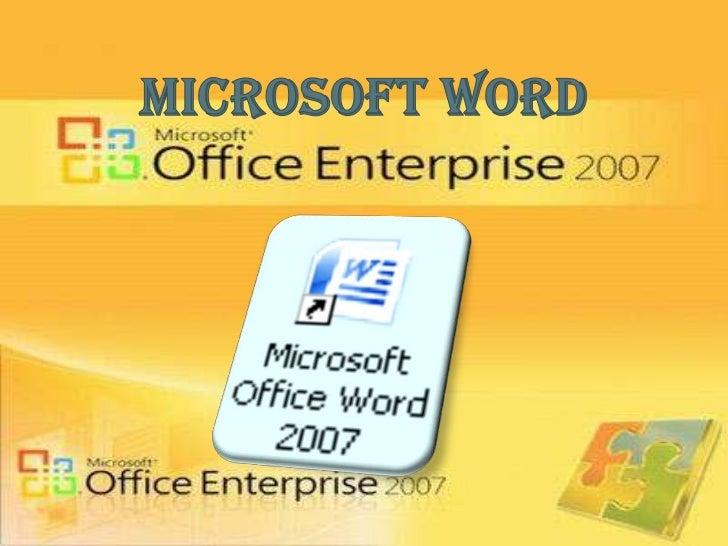 MICROSOF WORD                            Además de otras funciones Es un procesador de texto       como: tratamientos     ...
