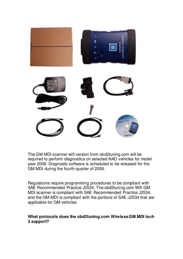 Details information of Wifi GM MDI scanner Wireless GM MDI tech 3 Mul…