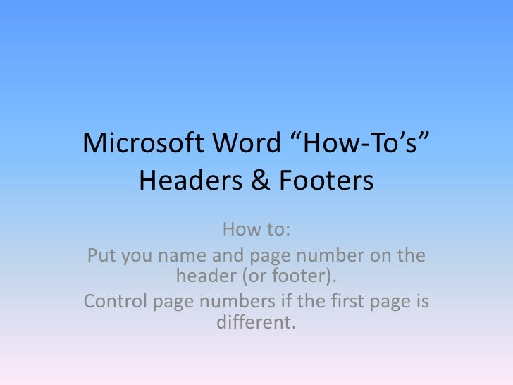 word document without header and footer