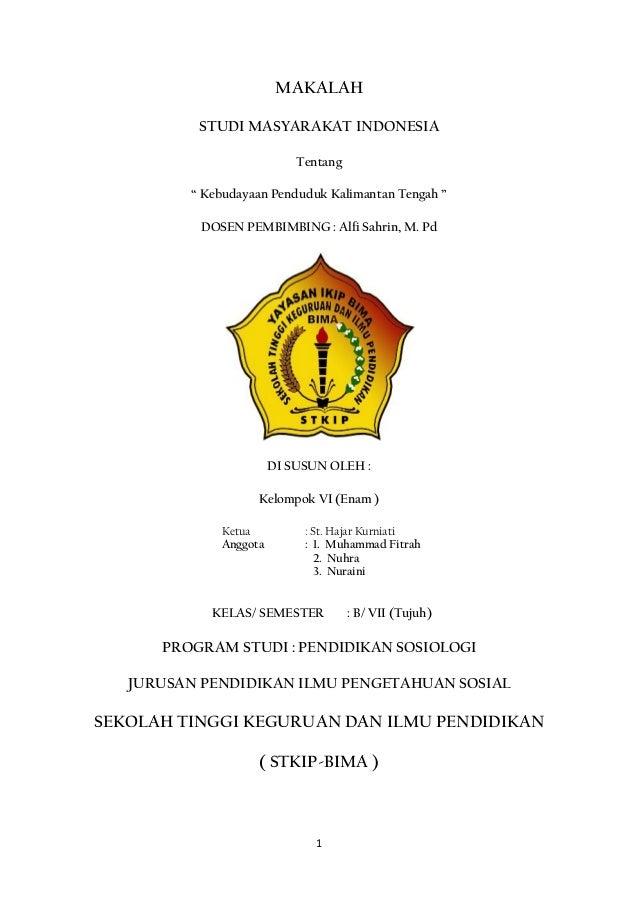 Microsoft Word Makalah Kebudayaan Kependudukan Kalimantan Tengah