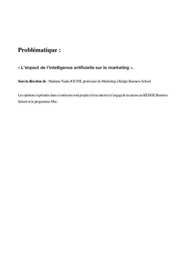 L'intelligence Artificielle au service du marketing Slide 2