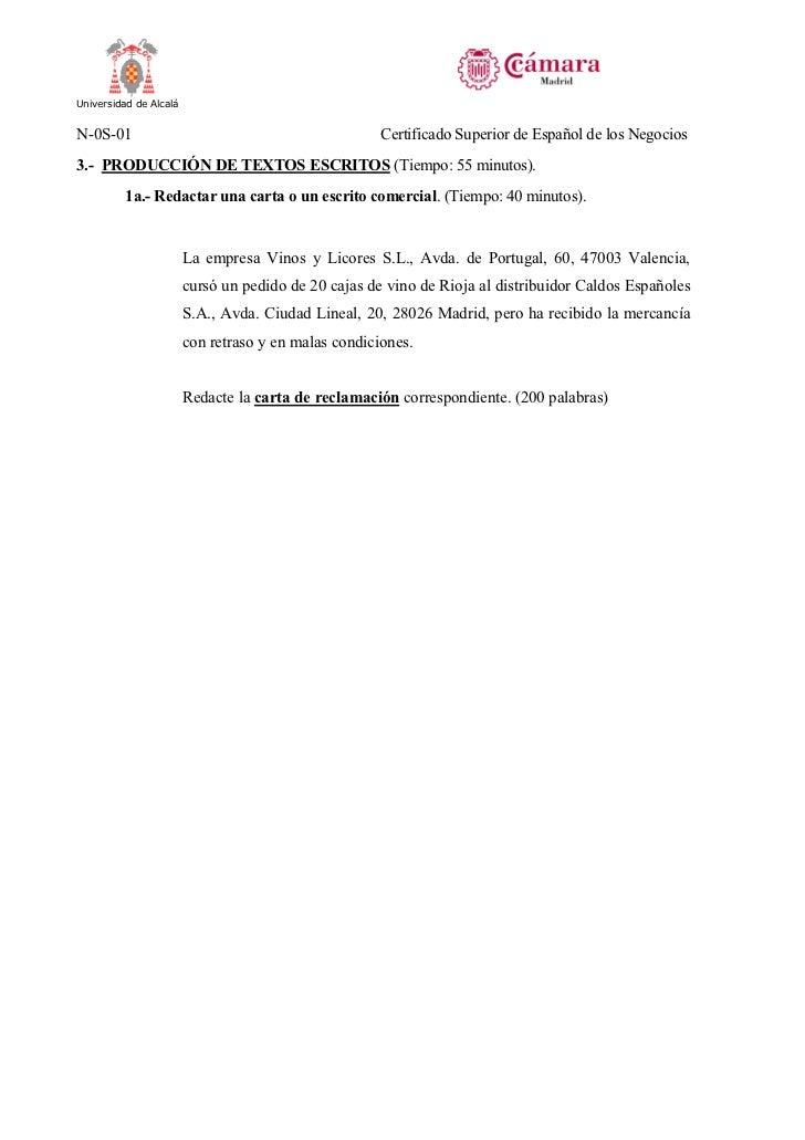 Modelo certificado camara comercio madrid superior negocios