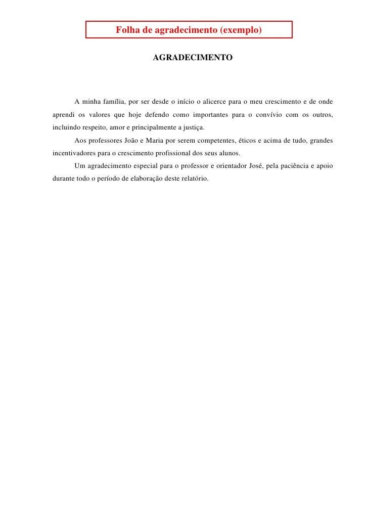 Exemplo de um relatorio tecnico