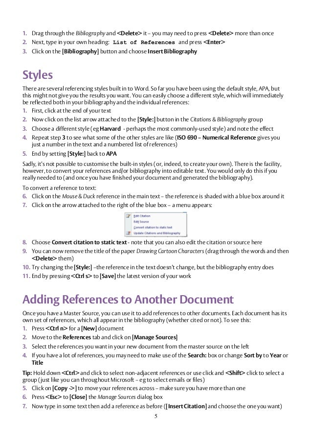 Word Reference List. Reference List Apa Style Sample-Topical
