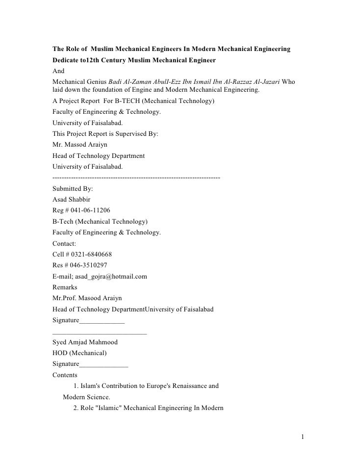 The Role of Muslim Mechanical Engineers In Modern Mechanical Engineering Dedicate to12th Century Muslim Mechanical Enginee...