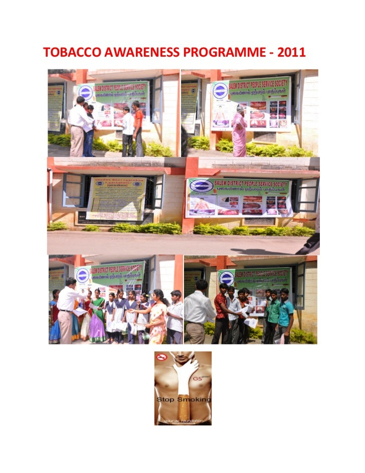 TOBACCO AWARENESS PROGRAMME - 2011