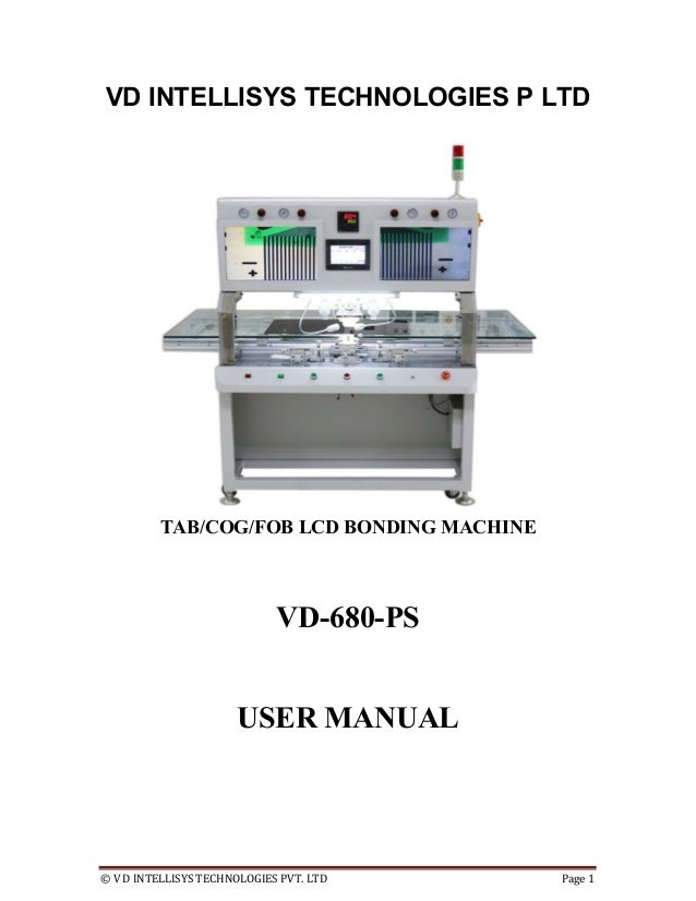 VD-680-PS acf bondig machine user manual