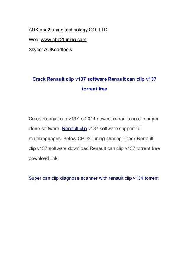 ADK obd2tuning technology CO.,LTD Web: www.obd2tuning.com Skype: ADKobdtools  Crack Renault clip v137 software Renault can...
