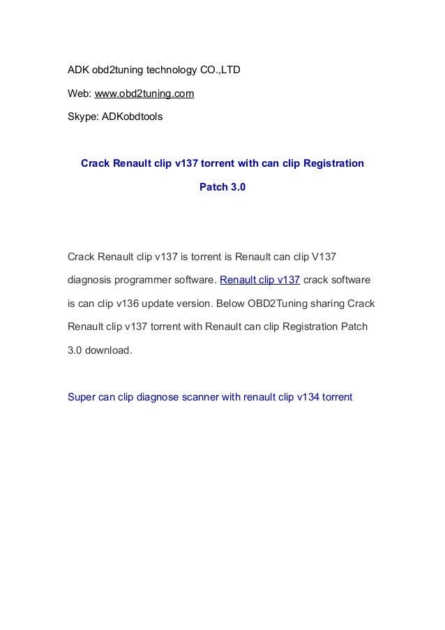 ADK obd2tuning technology CO.,LTD Web: www.obd2tuning.com Skype: ADKobdtools Crack Renault clip v137 torrent with can clip...