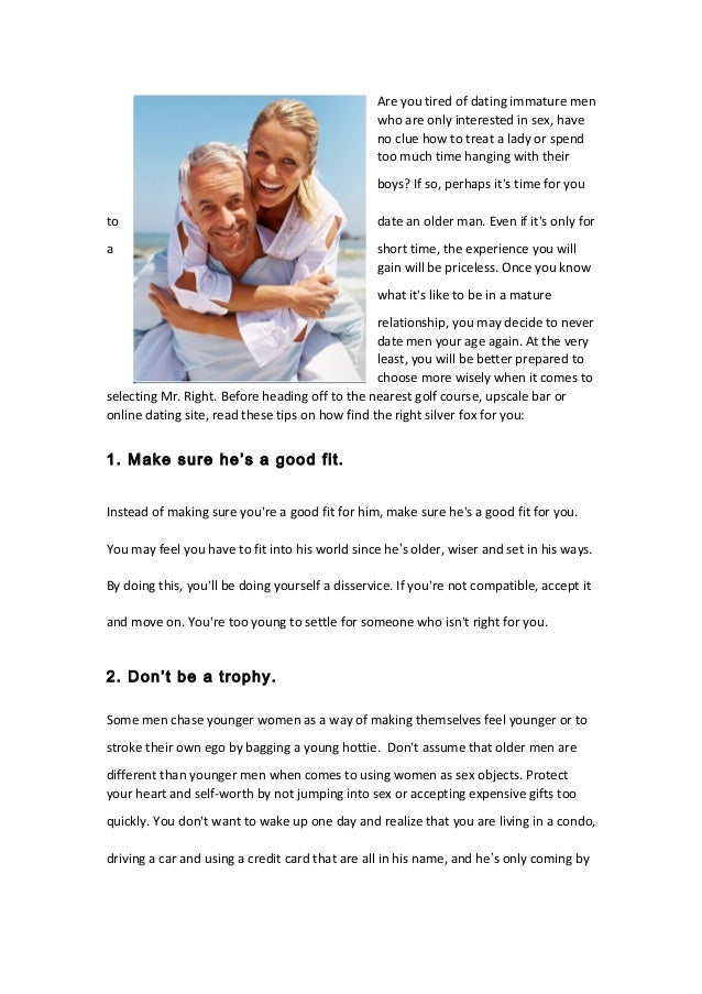 Dating tips for older men