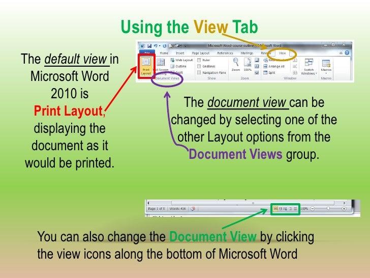 default word document