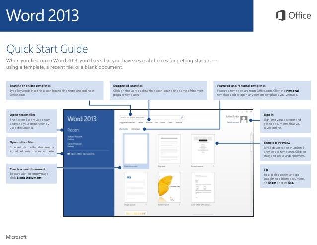 Microsoft Word Quickstart - Microsoft word online templates