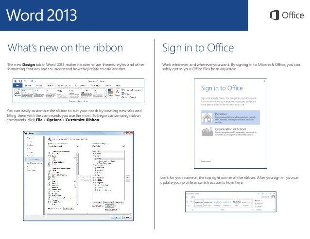 Microsoft Word 2013 Quickstart Slide 3
