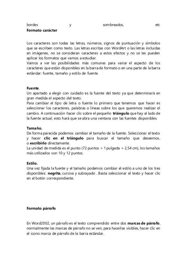 Microsoft word resumen