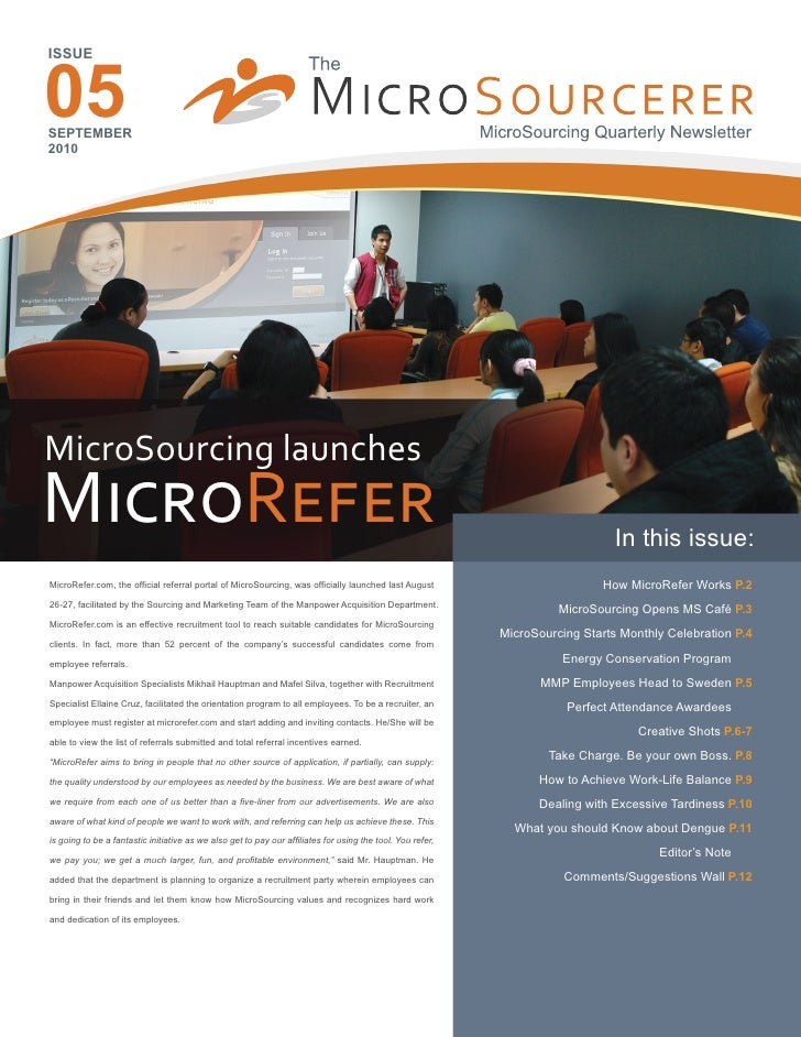 05ISSUESEPTEMBER2010MicroSourcing launchesM����R����                                                                      ...