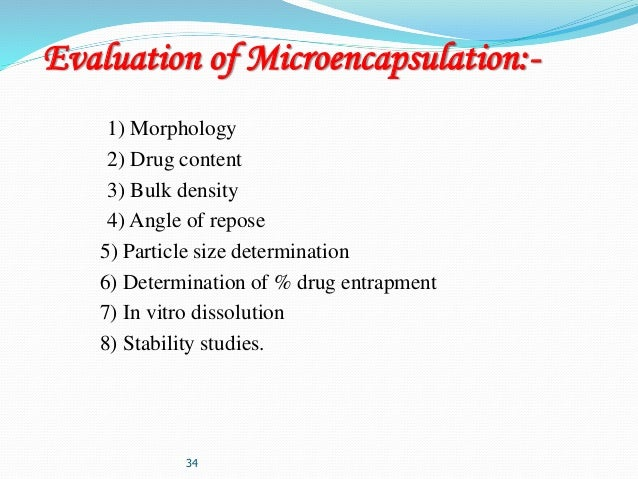 EVALUATION OF MICROCAPSULES DOWNLOAD