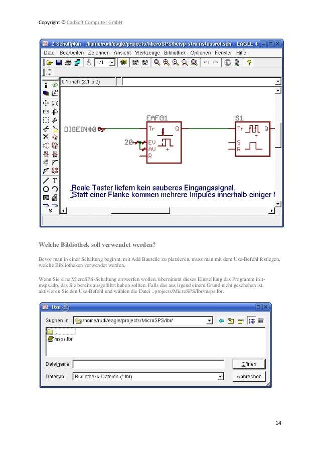 Niedlich Cadsoft Computer Bilder - Elektrische Schaltplan-Ideen ...