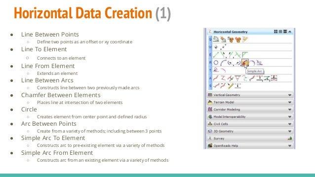 Microstation SS4 Corridor Modeler: Alignment Data