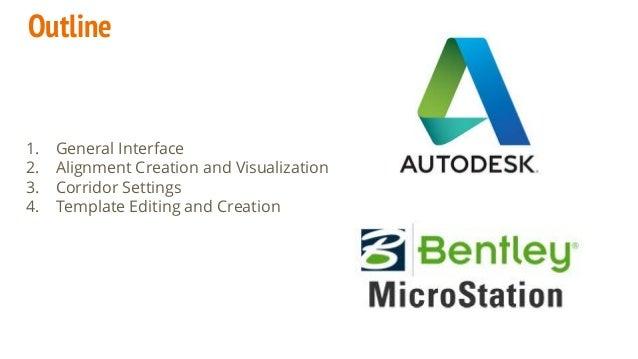 Microstation SS4 Corridor Modeler Vs  Autodesk Civil3D