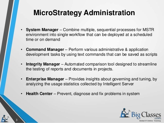 microstrategy administration