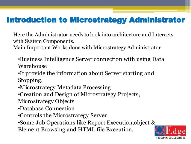 ... Microstrategy Administrator Resume ...