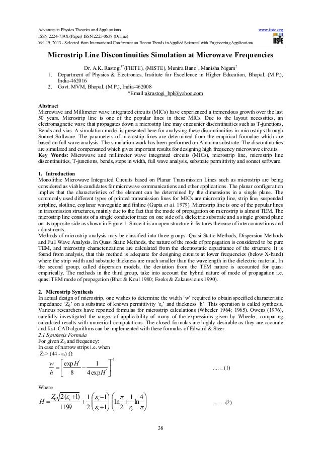 Advances in Physics Theories and Applications www.iiste.orgISSN 2224-719X (Paper) ISSN 2225-0638 (Online)Vol.19, 2013 - Se...